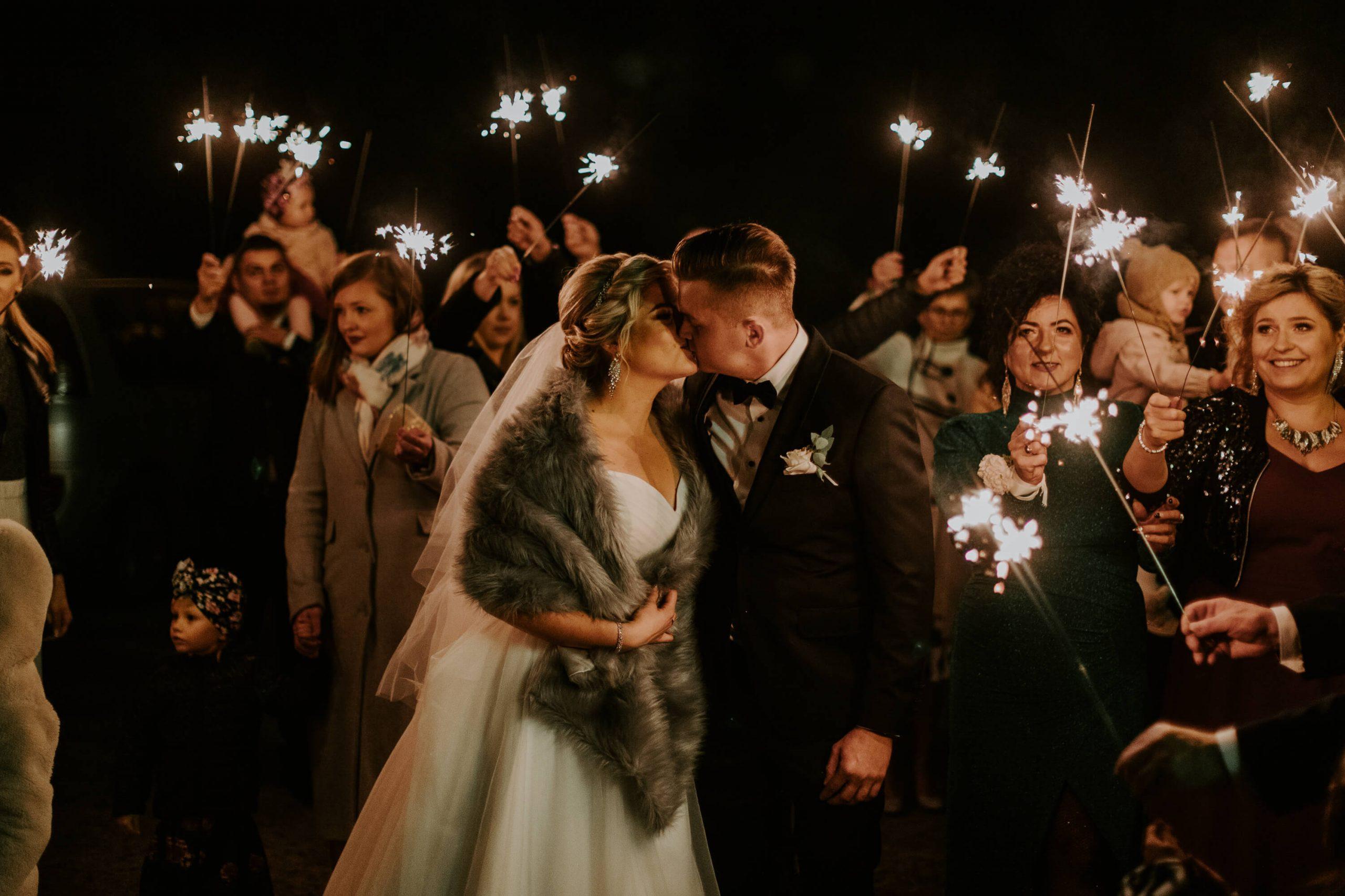 zimne ognie fotograf ślubny Olsztyn